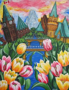 Pride Of Ottawa in Springtime by Jill Alexander Vibrant Colors, Colours, Ottawa, Spring Time, Fine Art America, Pride, Art Deco, Greeting Cards, Wall Art
