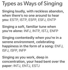 Singing a soft familiar tune when your alone