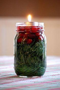 Canadian Rustic Christmas DIY Mason Jar Candle by MasonJarGift   best stuff