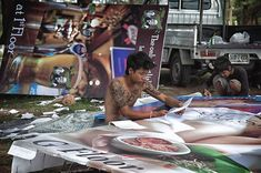 Sign making   #phuket #thailand #streetphotography #outdoors #people #environmentalportrait