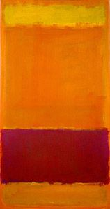 Mark Rothko's #73 (1952). Oil on canvas. ~ 55 x 30 in. High Museum of Art in Atlanta, Georgia.
