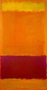 Mark Rothko's #73 (1952). Oil on canvas. ~ 55 x 30 in. High Museum of Art in Atlanta, Georgia.