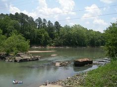 1864 bridge piers on Oconee River, Milledgeville, Georgia Civil War sites