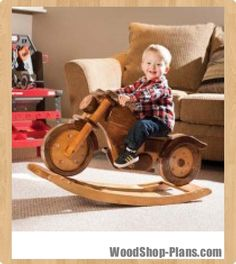 Motorcycle rocker woodworking plans... Makes me think of my nephew :)  @Kathy Chan Chan Chan Stedman