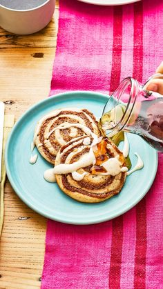 Bbc Good Food Recipes, Sweet Recipes, Yummy Food, Pancake Recipe Bbc, Pancake Recipes, Drunken Cherries Recipe, Best Pad Thai Recipe, Childrens Baking, Rainbow Pancakes