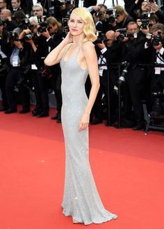 Naomi Watts in a slip dress at Cannes Film Festival 2016 red carpet