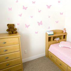 Butterflies Mount Wall Decal on wall in children's bedroom!!