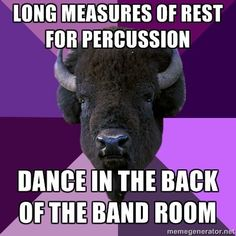 Percussion always has long measures of rest.