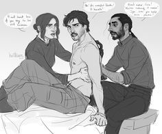 Anonymous said: Hi, would you draw hurt or injured Cassian and Bodhi taking care of him? I love when Cass is being the protective one but I'd love to see the other way around