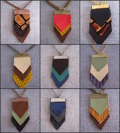 GEOMETRIC LEATHER NECKLACE comes in a variety of color by LovMely, $14.00