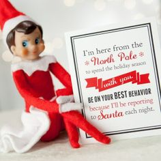Notes from the Elf - DIY printable note cards. Your elf can leave notes apologizing for messes, organizing holiday activities, revealing clues for stuff shes hidden, and monitoring childrens behavior. Such a fun way to create lasting holiday memories.
