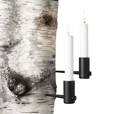 2 Horizontal Pipe Candleholders..... hammer in anywhere you want.