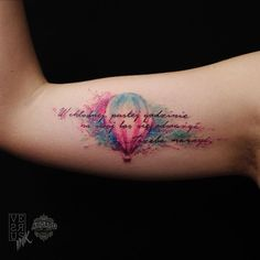 Risultati immagini per watercolor tattoo sentence