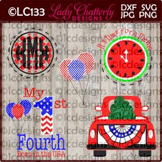 - Picnic Time Patriotic Designs by LadyChatterlyDesigns on Etsy Patriotic Bunting, Picnic Time, How To Make Notes, Some Ideas, Business Names, Paper Design, Colorful Backgrounds, Finding Yourself, Clip Art