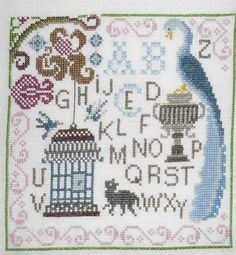 Jardin Prive Sampler for Bouquets completed by StarfieldEmbroidery