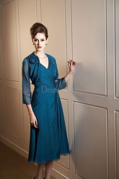 Gorgeous Knee-length Mother of the Bride Dress