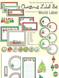 One of the best places to find free printable labels, tags, banners, journaling cards and more... Check it out! FREE Christmas Labels ready to print. They are really adorable Christmas labels in printables templates by Tricia-Rennea from World Label: