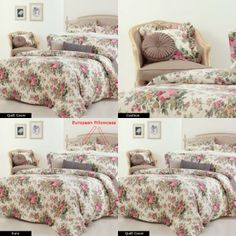 Inspired by traditional design, Gainsboroughs Rosewood Quilt Cover Set features a beautiful floral print in shades of pink and green on a cream background.