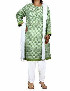 Green Kameez White Salwar Dupatta Indian Outfits for Women Size XXL ShalinIndia,http://www.amazon.com/dp/B00DXZIPYW/ref=cm_sw_r_pi_dp_5EeHtb1Q380MN4FF