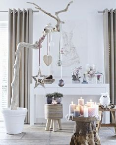 Modern Christmas 2015 ideas will show you the two main styles for the festive decor – a contemporary touch to traditional Christmas decorations and a Scandinavian Christmas Decorations, Modern Christmas Decor, Decoration Christmas, Christmas Trends, Nordic Christmas, Noel Christmas, Xmas Decorations, Christmas Inspiration, All Things Christmas