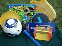 Summer Fun Kit For The Car- Be prepared and take the fun wherever you go. Take breaks and play in the shade with this kit.