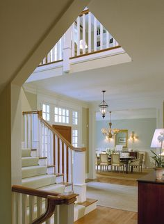 Staircase Towards Dining Room View