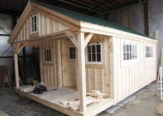 Check out this bunk house building from Jamaica Cottage Shop! This bunk house kit can be ordered fully assembled and it's available in various sizes.