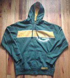 NFL Green Bay Packers Hoodie Zippered Sweat Shirt Jacket Mens Size Large #NFL #GreenBayPackers