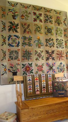 Beautiful quilt from Laundry Basket Quilt designs.
