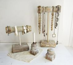 rustic jewelry display ideas - Google Search