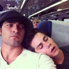 Silly Dylan falling asleep on Tyler.