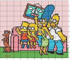 héros - cartoon - bd - simpsons - point de croix - cross stitch - Blog : http://broderiemimie44.canalblog.com/
