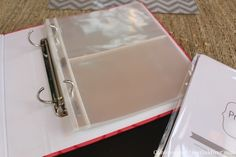 Recipe Organization 3. These plastic sleeves ($4.99 for 12) hold 4X6 cards ...