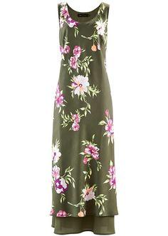 Sukienka przyjazna każdej sylwetce zdobiona pięknym kwiatowym wzorem. Fason z okrągłym dekoltem, bez rękawów. Dł. we wszystkich rozmiarach ok. 136 cm. Można prać w pralce. Materiał wierzchni: 100% poliester