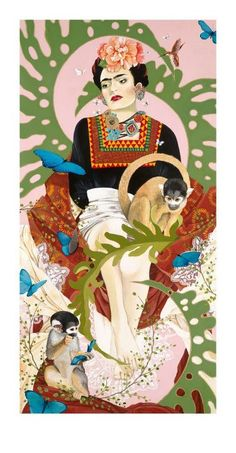 Khalo by Leal - Frida Kahlo always wore indigenous hand made Mexican clothing and beautiful Mexican jewelry