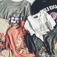 All of the tees please! Band t-shirts are trending and we have one for every occasion || Cotton On || 2017 || Autumn Fashion ||
