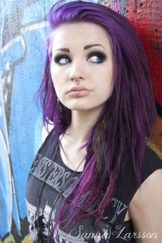 Incredible purple hair #hair #hairstyle #color #purple #faces