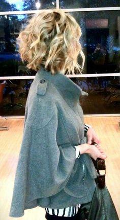 short to medium length hair love the jacket too