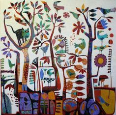 Christine Robinson - Winnie -  Mixed Media on Linen Barebones Art Space