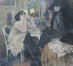 Femme à sa toilette  -  Leo Gastel  Dutch painter 1881-1941