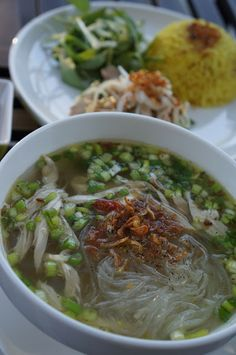 Gourmet by Kat: Chicken Glass Noodle soup (Mien Ga) and Chicken rice
