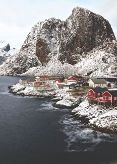 Lofoten, Norway  I visited this small town and swam in that water fishing for sea urchins. It's one of the most beautiful places on earth.