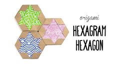Origami Hexagram Tiles/Coaster Star of David Paper Kawaii #origami #paperkawaii