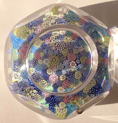 Large WHITEFRIARS Complex Closepack Multifaceted Art Glass Paperweight c. 1977