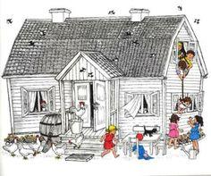 """Dzień Dziecka w Bullerbyn"" - Astrid Lindgren Illustration, Education, Ideas, Drawings, Livres, Illustrations, Onderwijs, Learning, Thoughts"