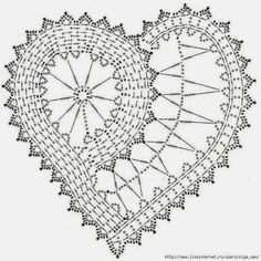 heart doily pattern