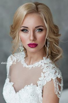 Wedding hair and makeup looks idea 8