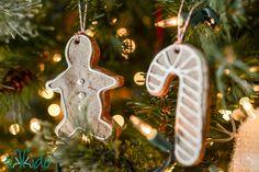 Gingerbread Salt Dough Ornament Recipe and Tutorial | Tikkido.com