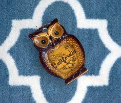 Vintage California Owl Souvenir Spoonrest