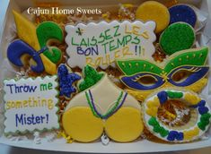Mardi Gras cookies | Cookie Connection